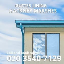 E9  gutter lining Hackney Marshes