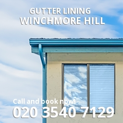 N21  gutter lining Winchmore Hill