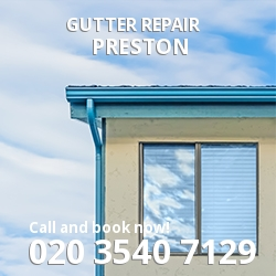 Preston Repair gutters HA9